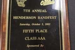 2002 - Henderson BandFest