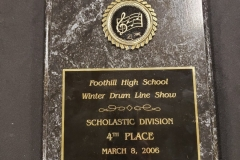 2006 - Foothill Winter Drum Line Show