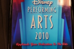 2010 - Disney Performing Arts