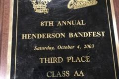 2003 - Henderson BandFest