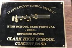 2000 - CCSD Concert Band Festival
