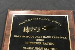 2003 - CCSD Jazz Festival